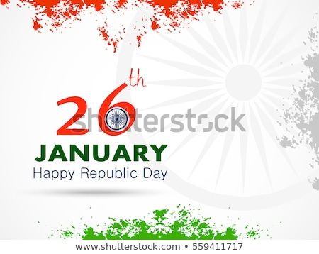Szczęśliwy republika dzień kolorowy indian banderą Zdjęcia stock © bharat