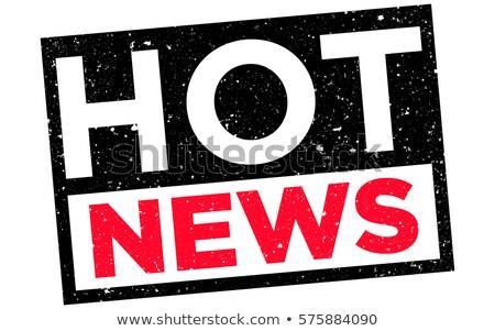 Photo stock: Hot News Stamp