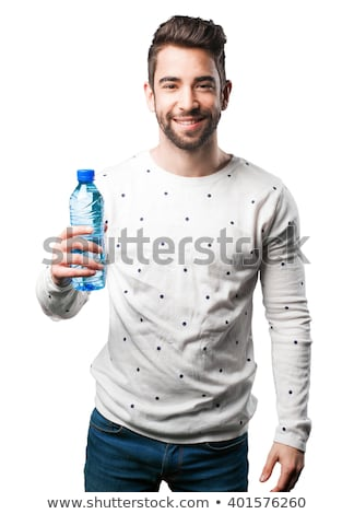 jóképű · üzletember · ivóvíz · iroda · lezser · ruha - stock fotó © neonshot