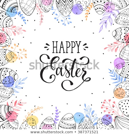 happy easter vector design set stock photo © beaubelle