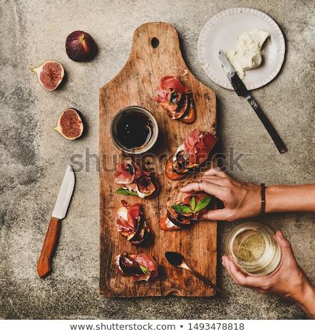 Ekmek prosciutto et büfe mutfak Stok fotoğraf © M-studio
