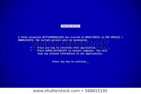 desktop computer with blue screen stock photo © harlekino
