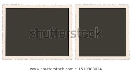 Foto stock: Polaroid · photo · frame · um · velho · branco · quadro