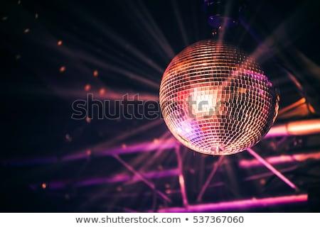 Disko topu arka renkli vektör Stok fotoğraf © derocz