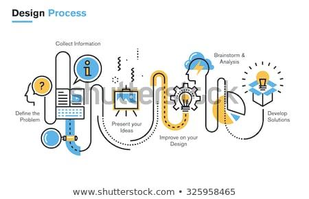 industrial infographic design stock photo © vipervxw