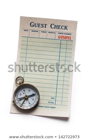 гость проверить компас ресторан Сток-фото © devon