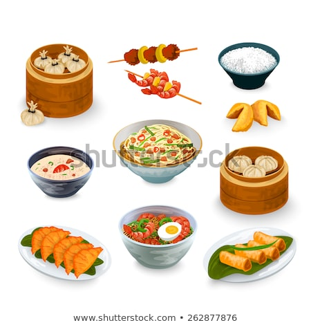 chinese food fried cakes stock photo © bbbar