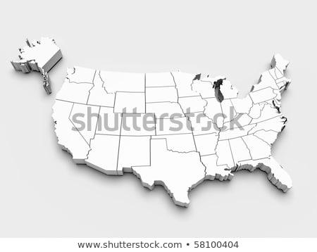 карта Монтана 3D форма синий Сток-фото © NiroDesign