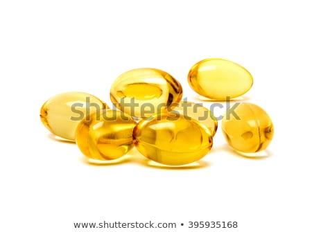 желтый · гель · капсула · изолированный · белый · золото - Сток-фото © ambientideas