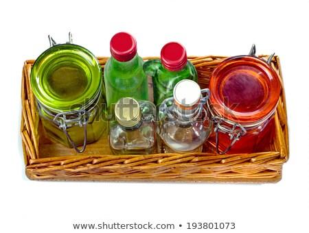 boş · cam · küçük · şişe · tepsi - stok fotoğraf © diabluses