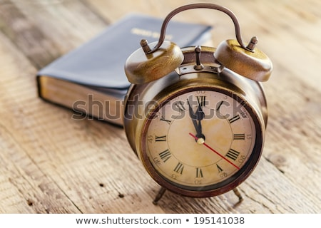Clock and Bible on wood Stock photo © manaemedia