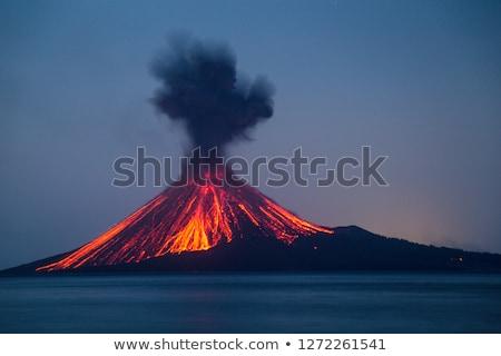 fantasie · illustratie · natuur · landschap · rook · rock - stockfoto © andromeda
