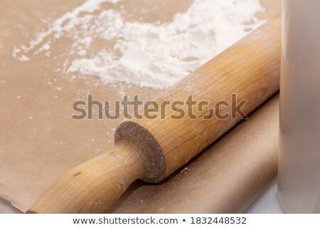 Hoop gebakken taarten vulling geïsoleerd witte Stockfoto © boroda
