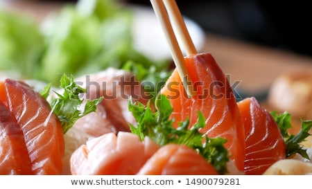Sashimi gıda balık Japon yemek sağlıklı Stok fotoğraf © leungchopan