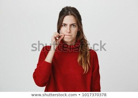 Mujer hermosa silencio textura cara mujeres moda Foto stock © Nejron