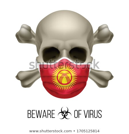 Kyrgyz flag skull Stock photo © dvarg