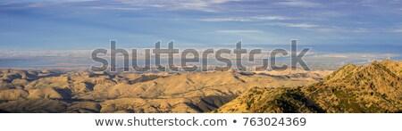 Panorama Nevada minare manzara dağlar vadi Stok fotoğraf © pancaketom
