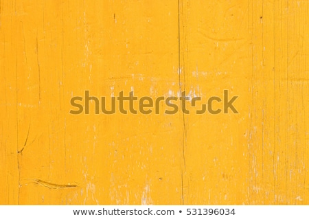 Stock photo: Old yellow painted wood wall
