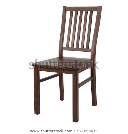 antique chair isolated on white background stock photo © frameangel