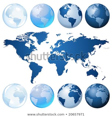 aarde · uitrusting · twee · globes · wereld · achtergrond - stockfoto © tilo