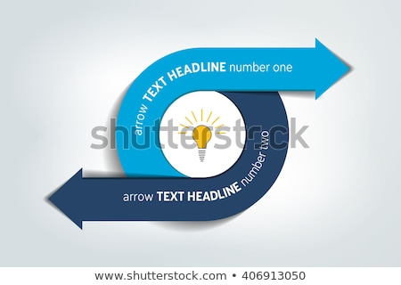 Business infographic design concept with two arrows stock photo © mOleks