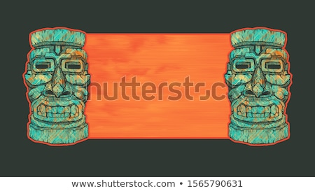 Stockfoto: Stencil · illustratie · Hawaii · bloemen · ontwerp · palmboom