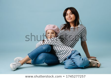 fashion woman leaning on her lover Stock photo © feedough