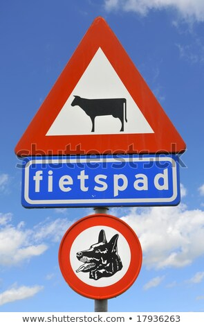 Sign prohibiting dogs to take a dump Stock photo © michaklootwijk