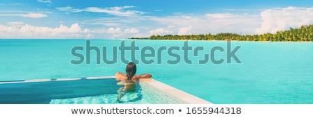 Turquoise mer typique île français polynésie Photo stock © danielbarquero