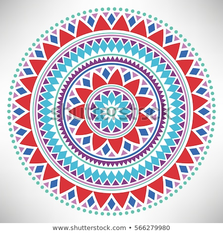 Round mandala motif Stock photo © morrmota