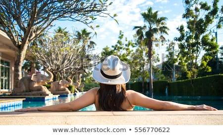 beautiful · girl · estância · termal · hotel · tempo · relaxante · bom - foto stock © kurhan