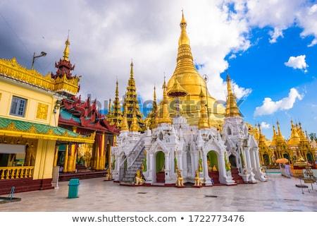 pagoda · éjszaka · Burma · Délkelet-Ázsia · út · épület - stock fotó © meinzahn