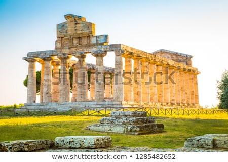 Klasik Yunan tapınak ören eski şehir Stok fotoğraf © meinzahn