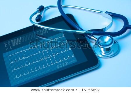 Elektrocardiogram tablet gezondheidszorg hartslag monitor medische Stockfoto © michaklootwijk