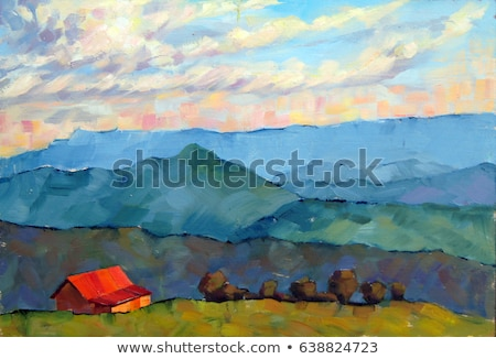 Mountains in the manner of Impressionism Stock photo © tracer