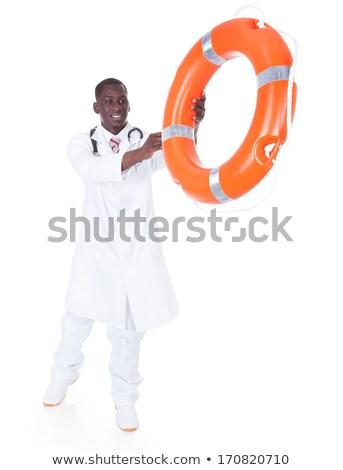 Mężczyzna lekarz nadmuchiwane rur portret młodych Zdjęcia stock © AndreyPopov