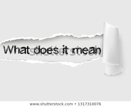controleren · gescheurd · papier · woord · achter · gescheurd · pakpapier - stockfoto © ivelin