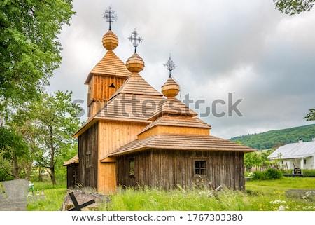 Bois église Slovaquie architecture Europe extérieur Photo stock © phbcz