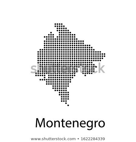 Kaart Montenegro patroon vector afbeelding Stockfoto © Istanbul2009