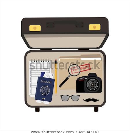 detectives vintage briefcase stock photo © stokkete