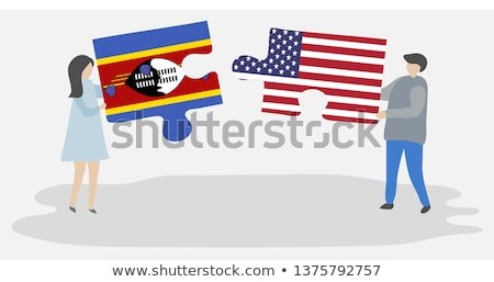 USA and Swaziland Flags in puzzle  Stock photo © Istanbul2009