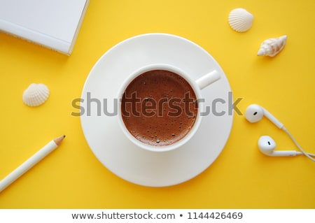 Turkish Coffee on White Table with a Book Stock photo © ozgur