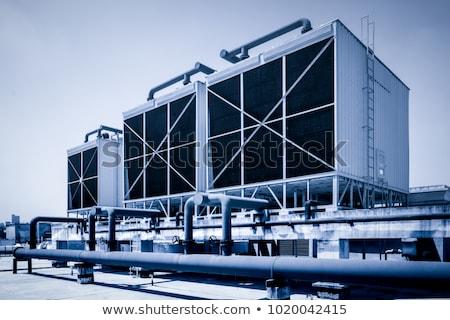 koeling · wolken · fabriek · energie · macht - stockfoto © martin33