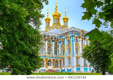 Pavilion in Summer garden in St-Petersburg, Stock photo © Pilgrimego