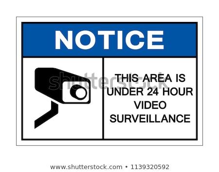 Videó megfigyelés matrica ikon illusztráció egyszerű Stock fotó © nickylarson974