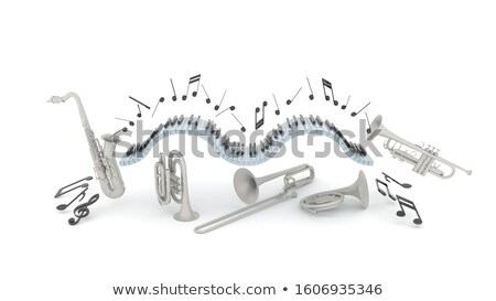 piano keyboard on white background stock photo © ozaiachin