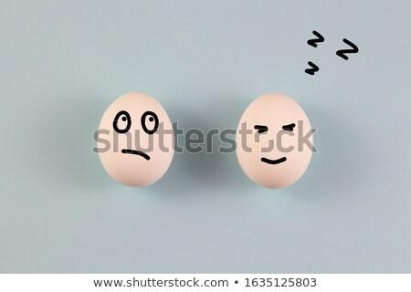 Eieren slaap gezicht ei cartoon Stockfoto © eddows_arunothai