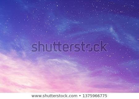 Witte sterren Blauw veer lichten gelukkig Stockfoto © marinini