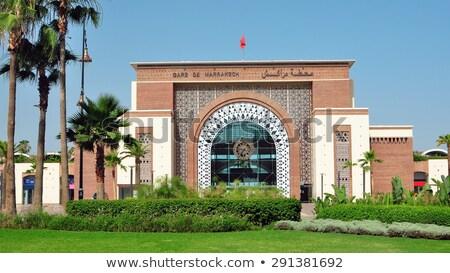 Gare ville Maroc repère architecture arabes Photo stock © tony4urban