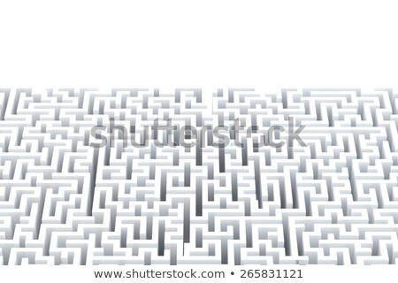 Abstract white maze with copyspace. Isolated on white. Contains clipping path Stock photo © Kirill_M